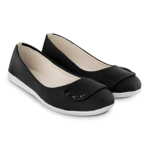 50e94008c7 CATT Stylish Fashionable Trendy Footwear Collection - Synthetic Bellie For  Women   Girl-Black