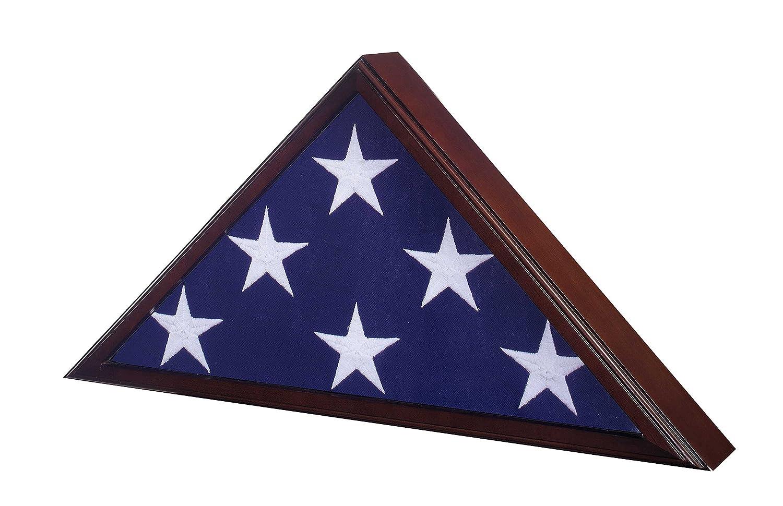 Amazon.com: Flag Case for American Veteran Burial Flag 5 X 9- Cherry ...