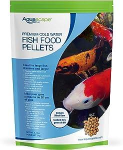 Aquascape Premium Cold Water Fish Food Pellets for Large Koi and Pond Fish, Large Pellet, 4.4 Pounds | 98872