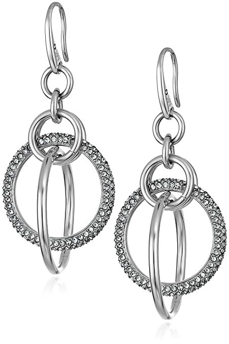 72e0cad63 Amazon.com: Michael Kors Brilliance Silver Drop Earrings: Jewelry