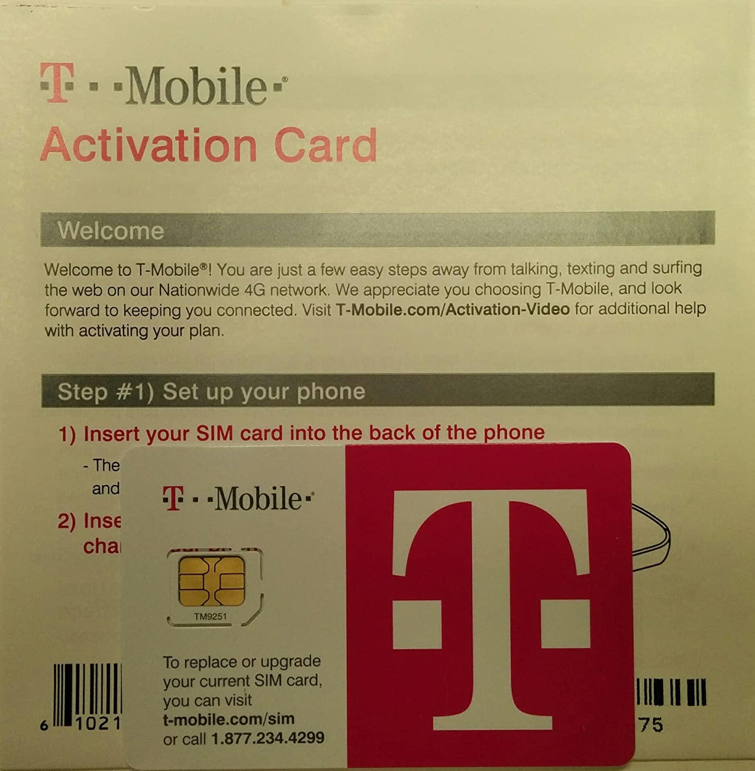 Amazon T Mobile Micro SIM Card Activation Kit