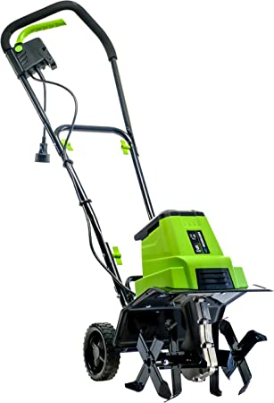 Amazon Com Earthwise Tc70090 9 Amp 12 Inch Corded Electric Tiller Cultivator Green Garden Outdoor