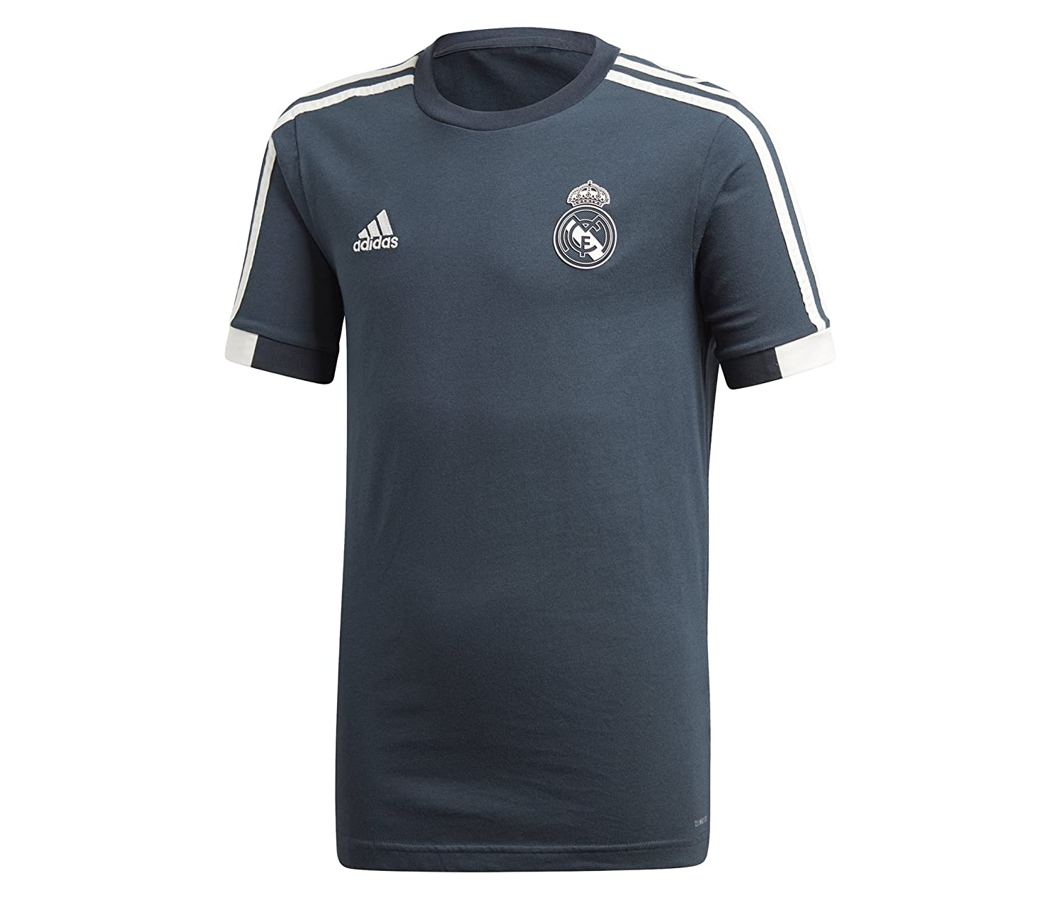 adidas Camiseta Real Madrid 2018-2019 Niño Tech onix-Black-Core white: Amazon.es: Deportes y aire libre