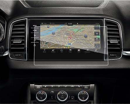 9.2 Zoll CDEFG f/ür Skoda Karoq 2017 2018 Auto Navigation Glas Schutzfolie 9H Kratzfest Anti-Fingerprint GPS Transparent Displayschutzfolie