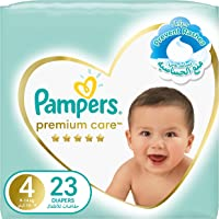 Pampers Premium Care Diapers, Size 4, Maxi, 9-14 kg, Mid Pack, 23 Count