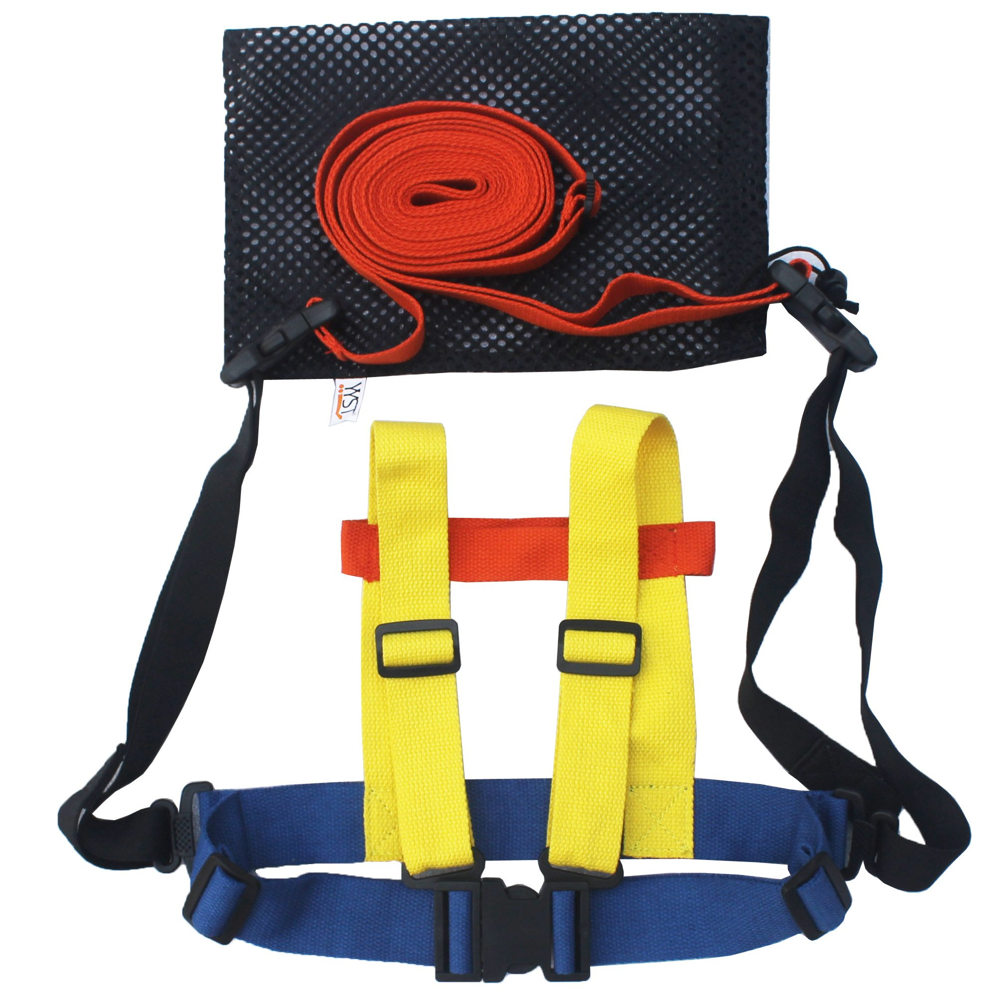 YYST Kids Ski Shoulder Harness Ski Leash Ski Training Harness Teach Kids to Ski (One Shoulder and Waist Strap, One Leash)