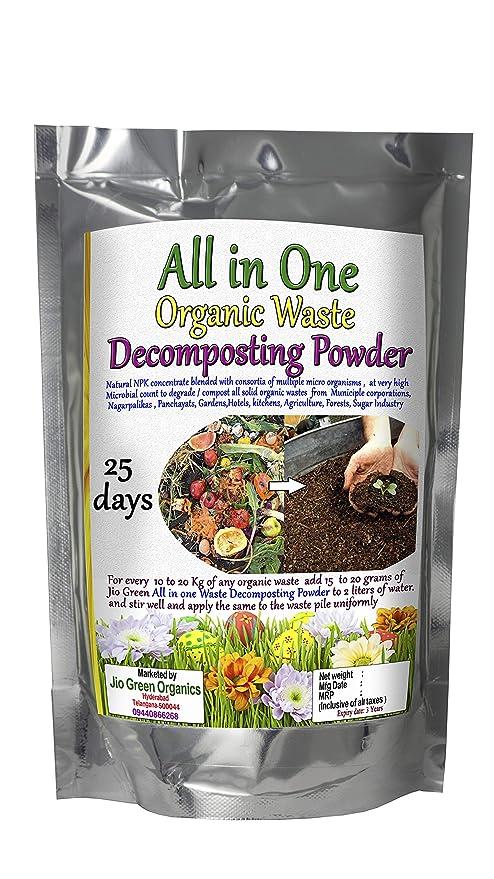 Jio Green 850 Grams All in one Organic Waste Decomposting Powder for Kitchen, Garden Waste etc in 25 Days with NPK mobilizer