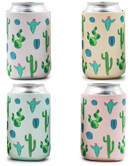 amazon com blue panda 12 pack cactus desert beer can cooler sleeve rh amazon com