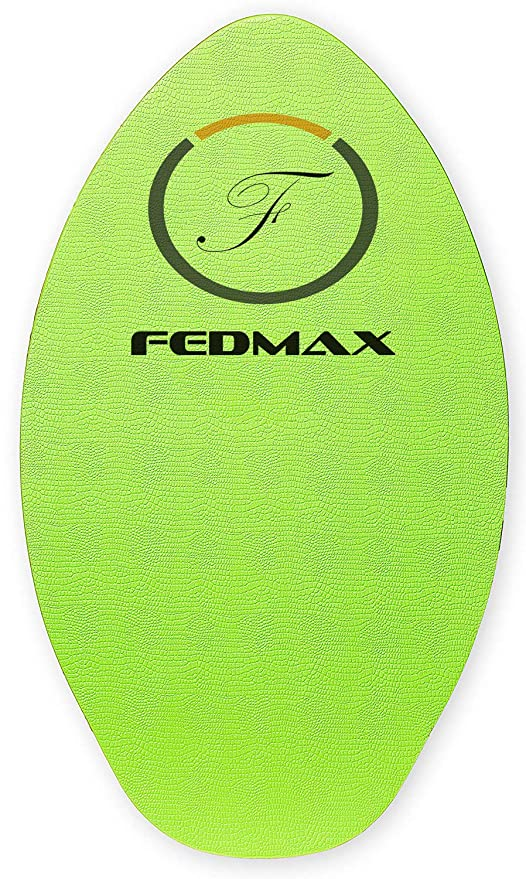 Fedmax Wood Skimboard With Ixpe Foam Traction No Wax Needed Choose Size Skim Board For Kidsadults
