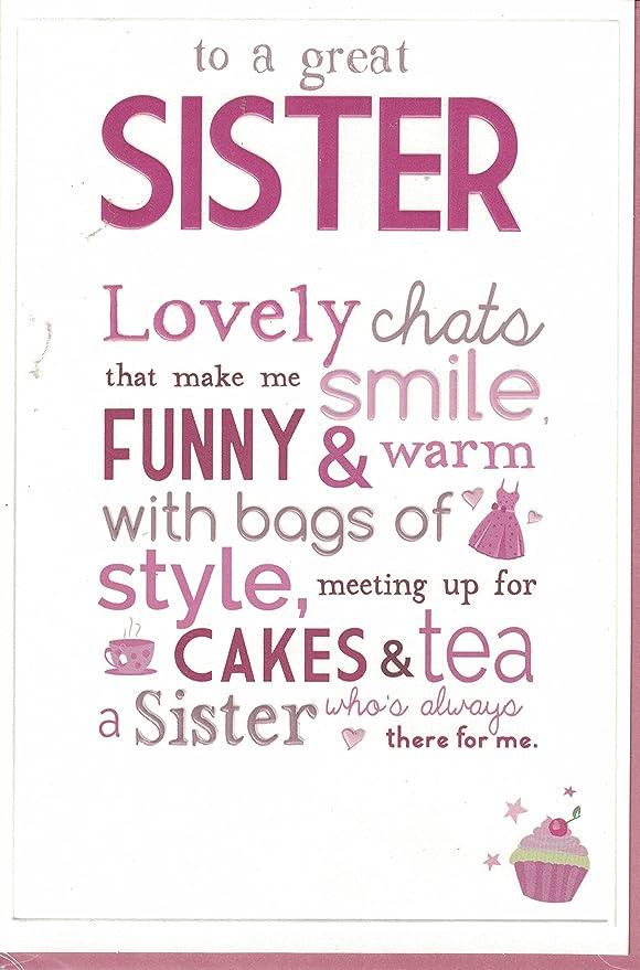 Hermana Tarjeta de cumpleaños ~ A un gran hermana ~ Cupcakes ...