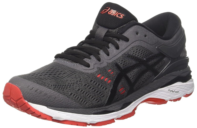 Asics Gel-Kayano 24, Zapatillas de Running para Hombre 48 EU Gris (Dark Grey/Black/Fiery Red 9590)