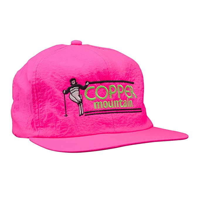 8ea981af24f Amazon.com  Copper Mountain Snapback Neon Pink Vintage Hat  Clothing