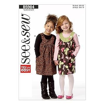 Amazon.com: Butterick Patterns B5904 Children's/Girls' Jumper ...