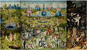 The Garden of Earthly Delights Wall Art Famous Canvas Prints Painting Picture Poster and Prints Home Decoration Art Poster Frameless 20x28 inch