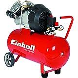 Einhell Kompressor TC-AC 400/50/8 Set (2,2 kW, 50 l, Ansaugleistung 400 l/min, 8 bar, inkl. Schlagschrauber, Reifenfüllmesser, 5m Spiralschlauch)