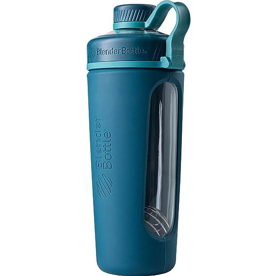 Amazon.com: BlenderBottle Radian Glass Shaker Bottle, Deep Sea Green ...