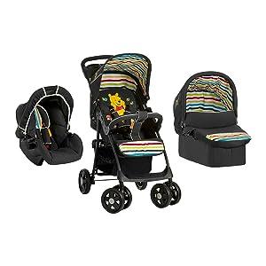 Disney Baby Shopper Trio Set, Pooh Tidy Time - Black