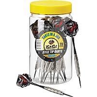 Fat Cat en un frasco de los dardos:Dardos de punta de acero con recipiente de almacenamiento/Viajes, 19Gramos (paquete de 15, 21y 27dardos)