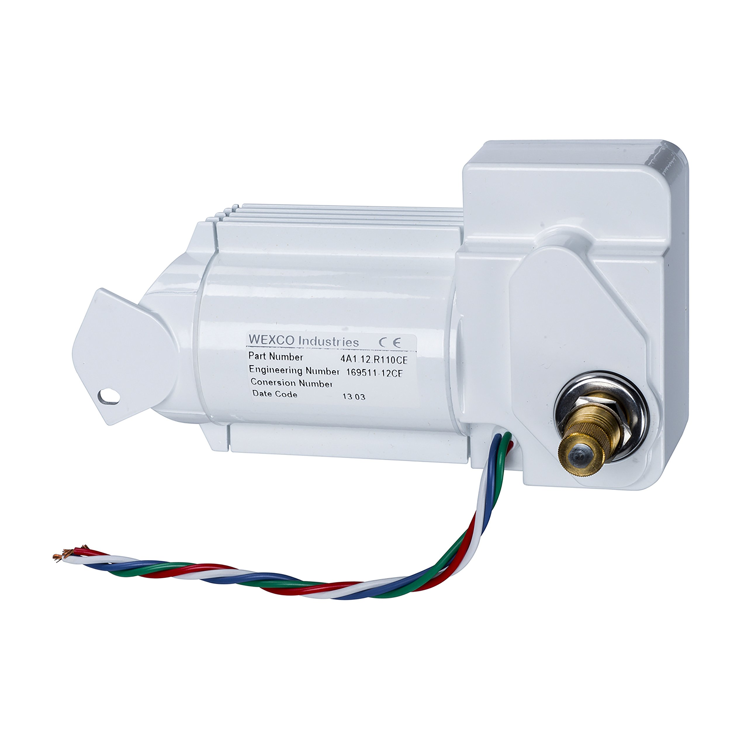 Wexco Wiper Motor, 4A1.24.R110CE, One and a half inch (1.5'') shaft, 24V, CE Certified