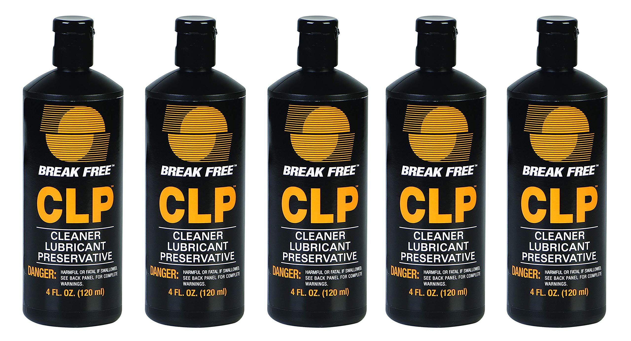BreakFree CLP-4 Cleaner Lubricant Preservative Squeeze Bottle (4 -Fluid Ounce) (5-(Pack))