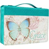 Bible Cover Butterfly Grace Teal Ephesians 2: 8 Medium