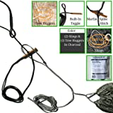 Venngren Whoopie Sling Hammock Hanging System (Set of 2) Slings AND ( Set of 2) Tree Huggers with Integrated Reinforced Carbon Fiber Toggles Handmade from Amsteel in USA Color: Silver or Charcoal
