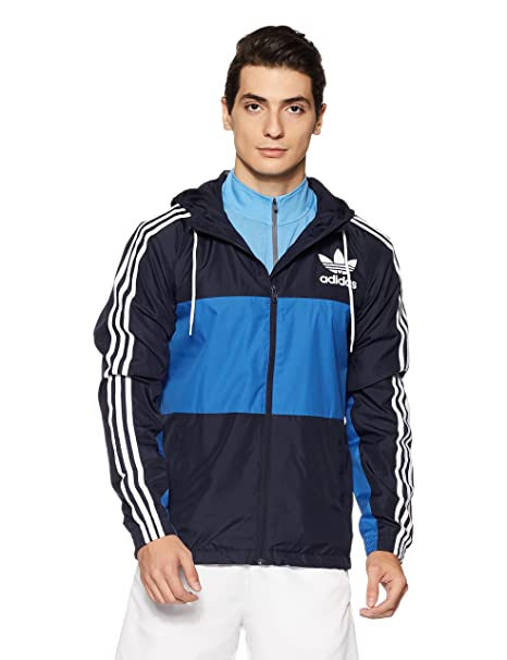 adidas Originals Men's Clfn Windbreaker Jacket in Legend Ink