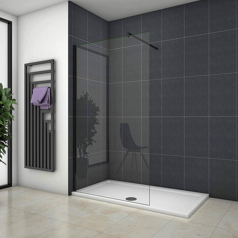 Mamparas de Ducha Pantalla Panel Fijo Perfil Negro Cristal Antical 8mm Barra 70-120cm - 70x200cm: Amazon.es: Bricolaje y herramientas