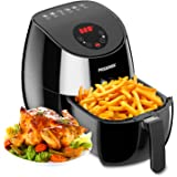 AIGEREK Air Fryer, Touch Screen Digital Air Fryer & Insulted Basket Handle, Fry Healthy With 80% Less Fat, Black/3.7QT/Ark200BE