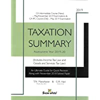Taxation Summary - AY 2019-20