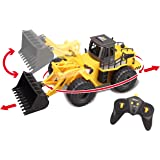Top Race 6 Channel Full Functional Front Loader, RC Remote Control Construction Tractor with Lights & Sounds 2.4Ghz (TR-113G)