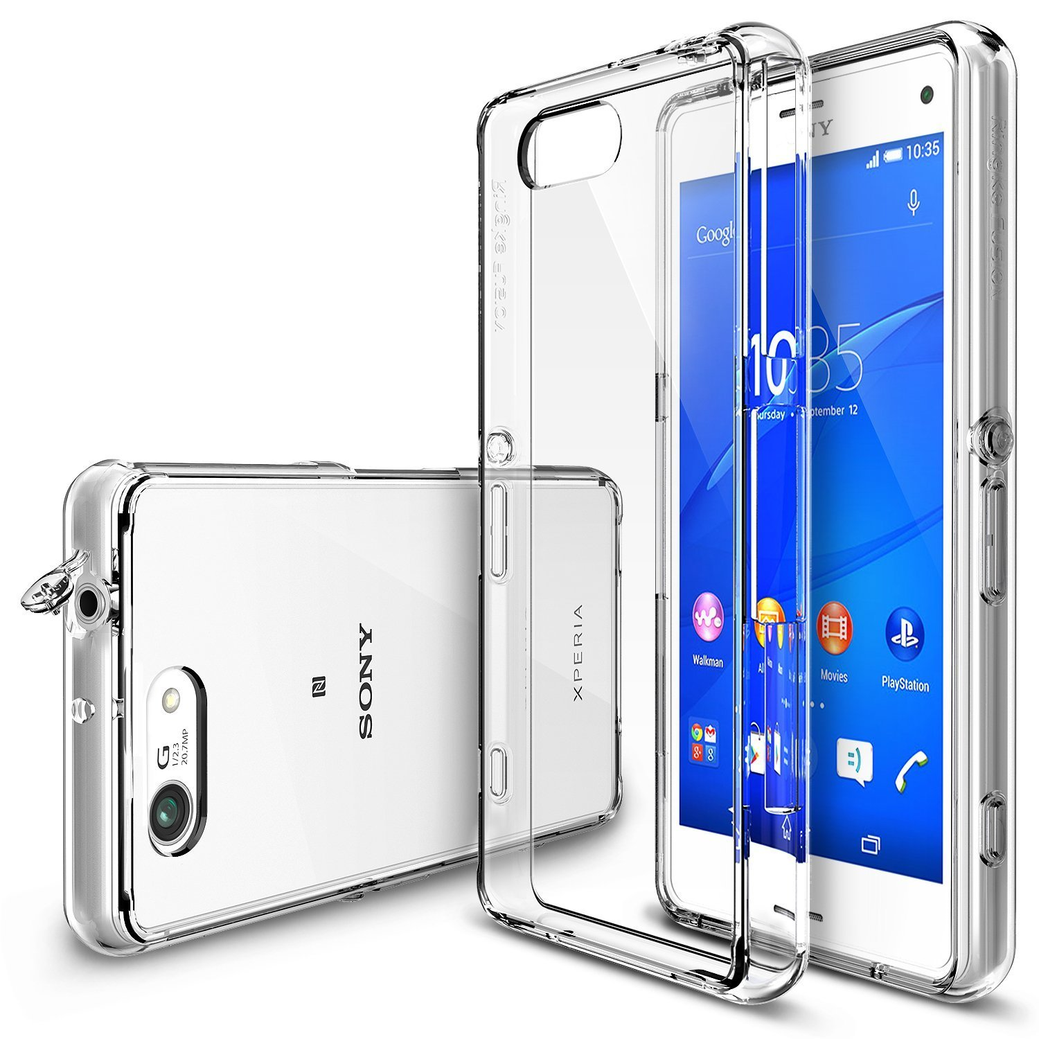Xperia Z3 Compact Case Ringke Fusion Free Hd Film Dust Capdrop Seken Protectioncrystal View Shock Absorption Bumper Premium Hard For Sony