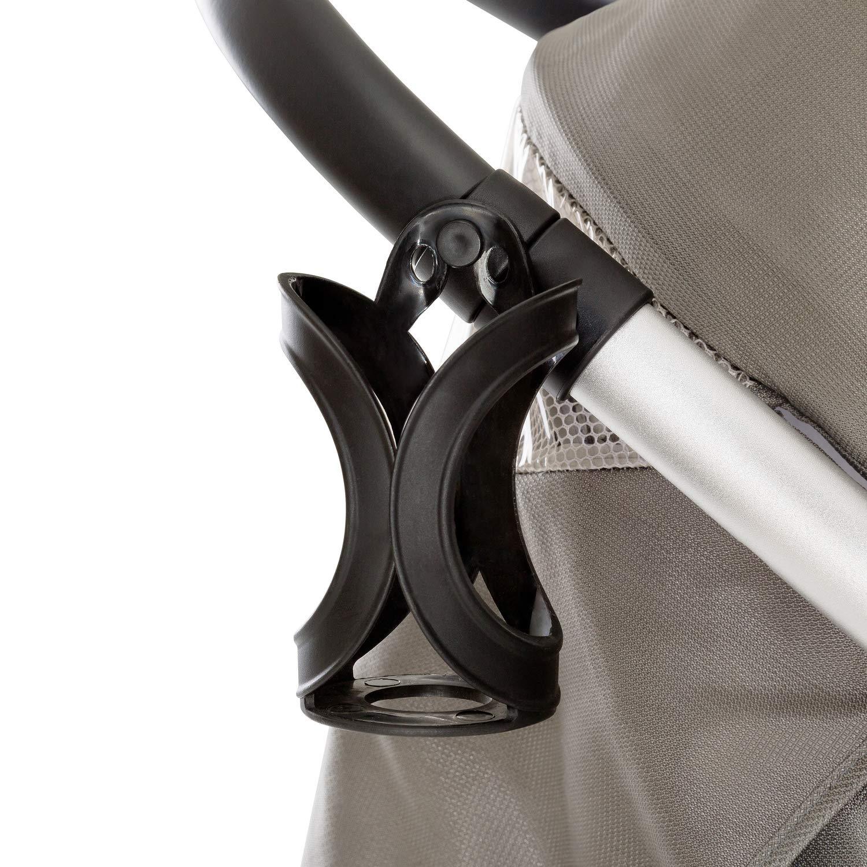 gris Silla de paseo con asiento amplio plegado libro con una mano manillar regulable en altura ligera Hauck Lift Up 4 botellero desde nacimiento hasta 25 kg chasis aluminio Charcoal