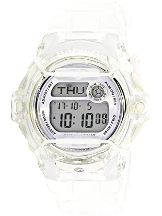 ab0f88496 Image Unavailable. Image not available for. Color: Casio Baby-G BG169R-7E  Semi-Transparent Women's Sports ...