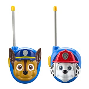 Paw Patrol New Walkie Talkies - Set of 2 Kids Walkie Talkies Chase and Marshall – Excellent Walkie Talkies for Toddlers