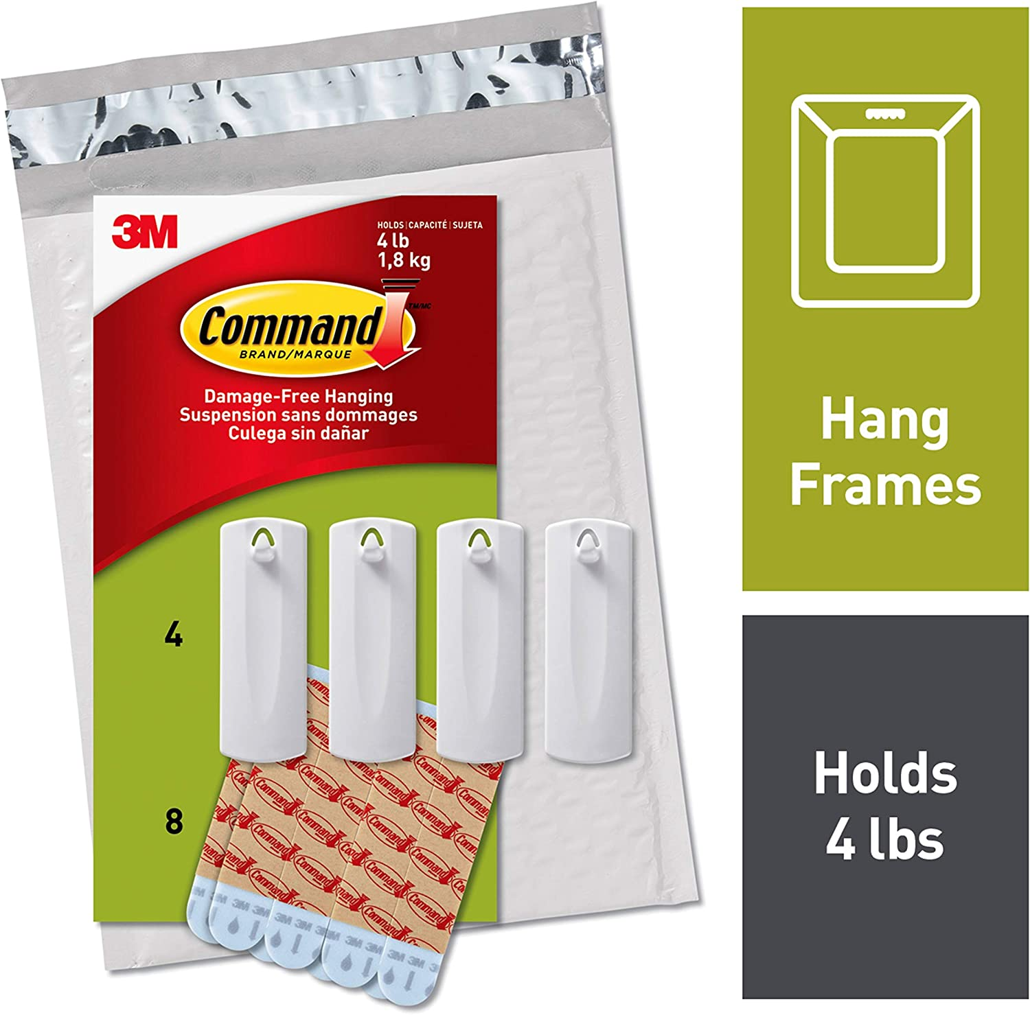 Sawtooth Adhesive Hangers For Pictures 4 Pack