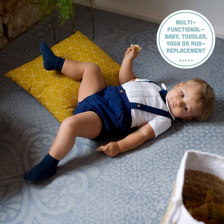 Odorless Foam Mats for Kids Play Mat Grey by Toddlekind Premium Quality Foam Play Mat Foam Mat Made Better Play Mats for Baby from 0+