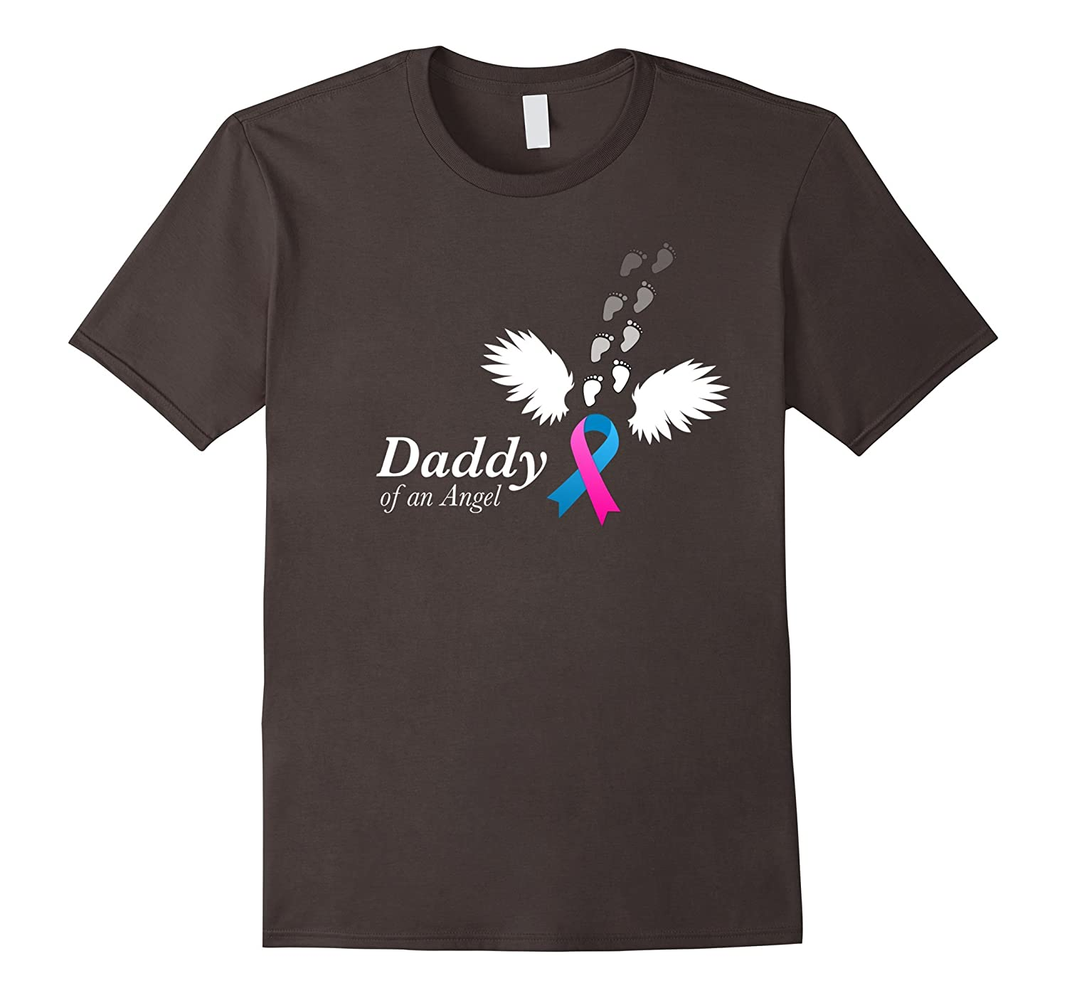 Angel Daddy T-Shirt. Miscarriage Awareness Infant Loss Tee-RT