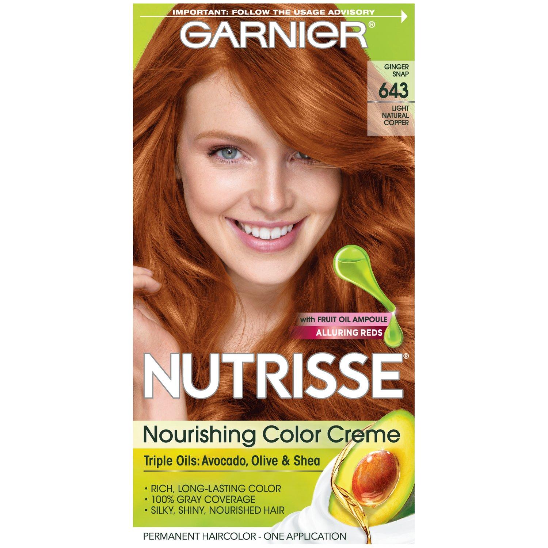 Amazon.com: Garnier Nutrisse Nourishing Color Creme, 54 Medium Natural Copper: Beauty