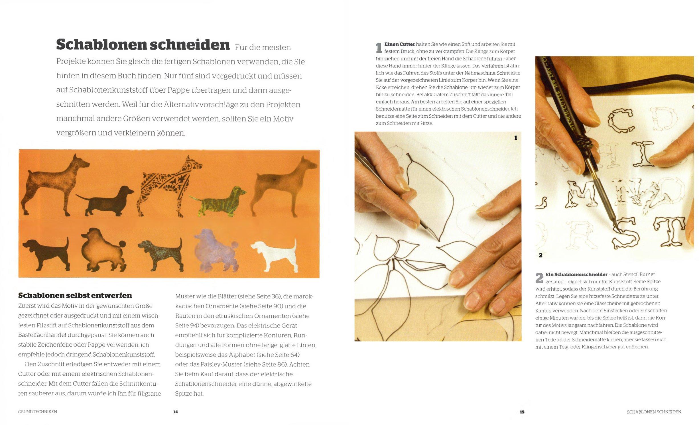 Schablonen-Dekor: Wände, Möbel, Textilien stilvoll gestalten: Amazon ...