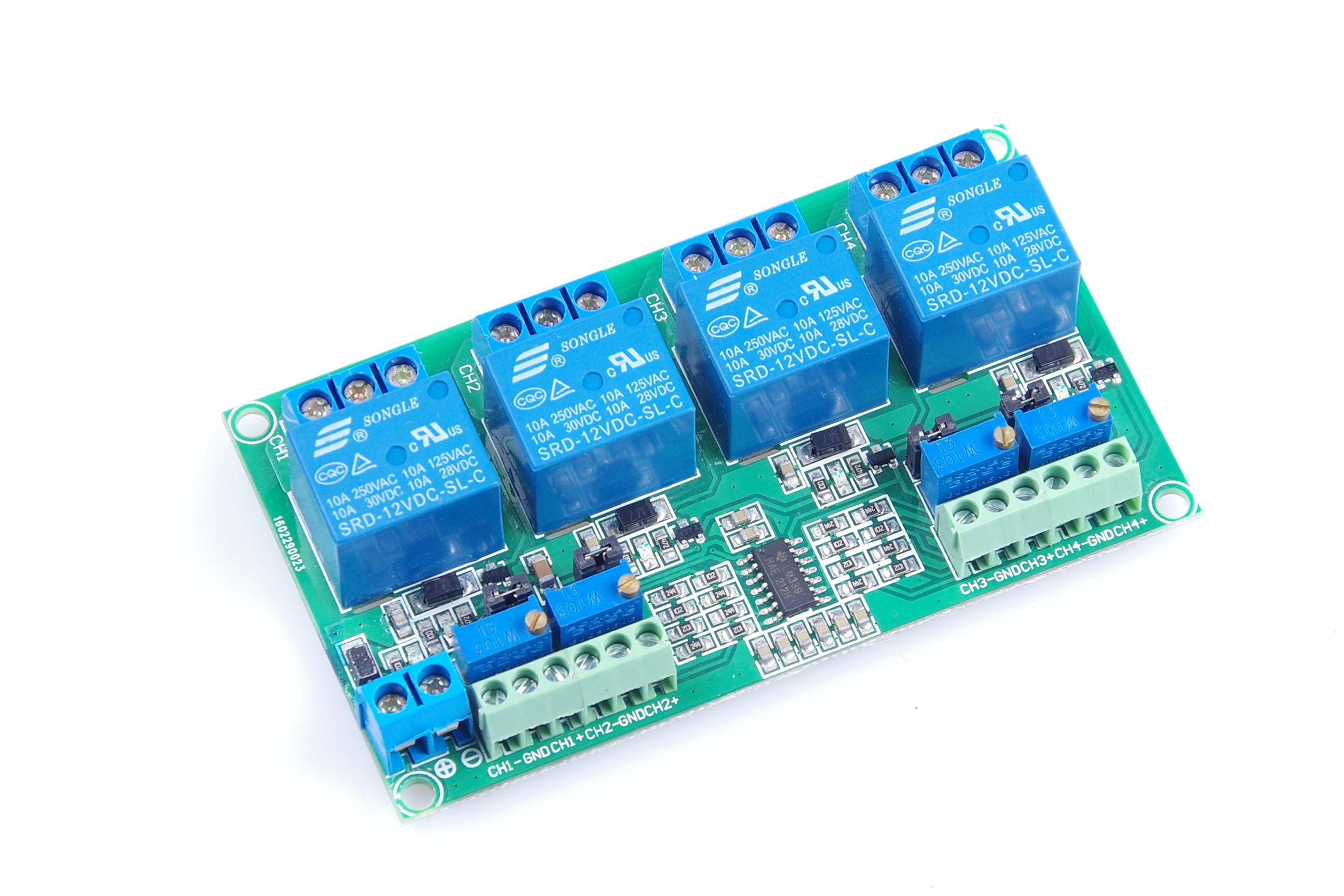 KNACRO DC 12V 4-Channel Voltage Comparator Professional High-precision resolution of 0.1V LM393 Comparator Module