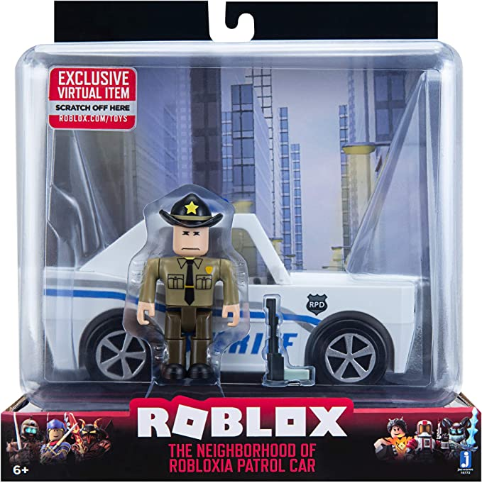Roblox 679 Id Amazon Com Roblox Action Collection The Neighborhood Of Robloxia Patrol Car Vehicle Includes Exclusive Virtual Item Toys Games
