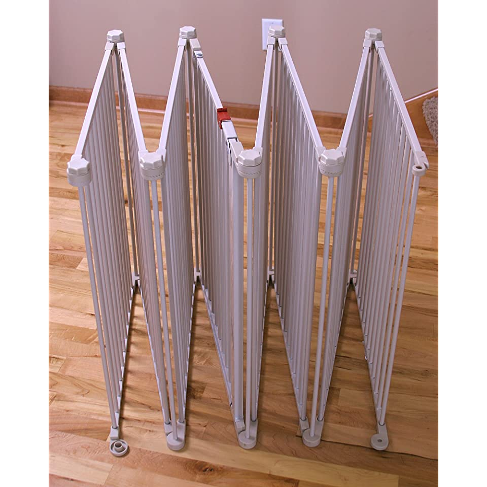 Extra Wide Metal Baby Safety Gate Play Yard Toddler Dog Fireplace Stair Guard