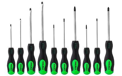 TOOLZILLA® Kit de 10 tournevis magnétiques