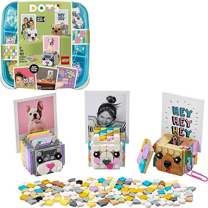 LEGO DOTS - Portafotos Animales, estuche creativo a partir 6 años para sujetar fotos y dibujos, caja de manualidades creativas con piezas de colores (41904) , color/modelo surtido: Amazon.es: Juguetes y juegos