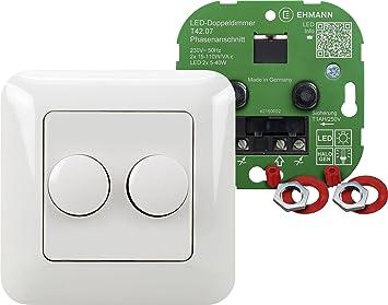 Doppeldimmer 4260x0701 T42.07.1 / Unterputz Komplettdimmer Für  Phasenanschnitt , Für Dimmbare LED