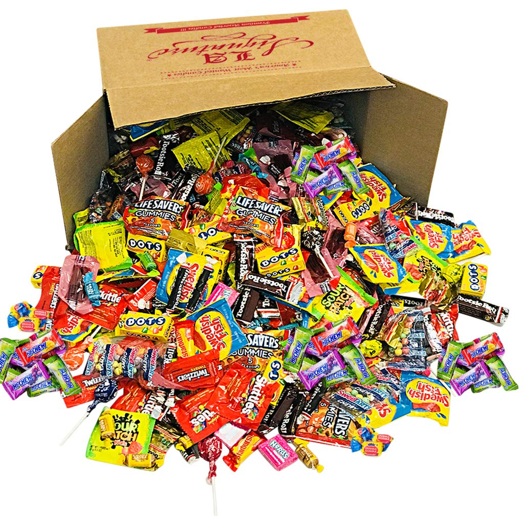 LA Signature Assorted Classic Candy - Huge PARTY MIX Bulk BOX! 11.25 lbs / 180 oz Classic Candies Like Hi-Chew Starburst Haribo Skittles Swedish Fish SweeTarts Sour Patch Tootsie over 430 pieces by LA Signature