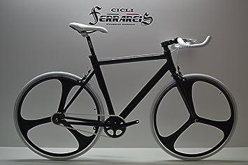 Fixed Bike Single Speed – Bicicleta de piñón fijo, negra y blanca ...