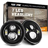 Sunpie Black Daymaker Style LED Projection Headlight Kit for Jeep Applications Jk TJ LJ