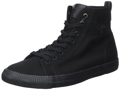 Calvin Klein Arthur Canvas, Zapatillas para Hombre, Negro (Black/Black), 43 EU